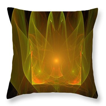 Holy Ghost Fire Throw Pillow by Bruce Nutting