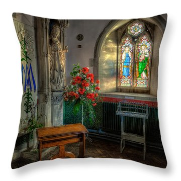 Holy Ground Throw Pillow by Adrian Evans