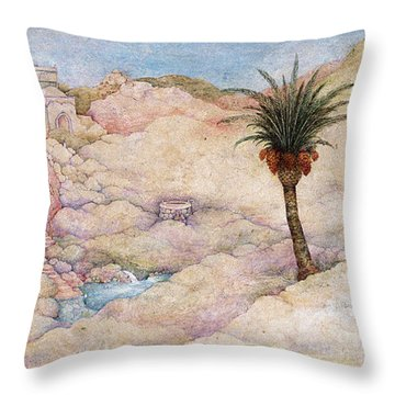 Holy Land Throw Pillow by Michoel Muchnik