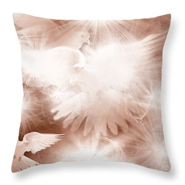 Holy Light Throw Pillow