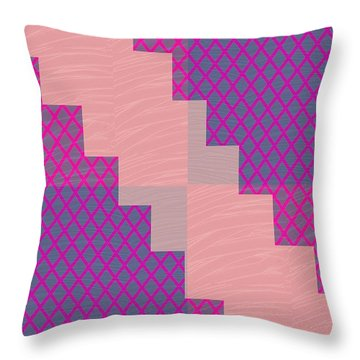 Throw Pillow featuring the photograph Holy Purple Diamond Pattern And Silken Light Crystal Across by Navin Joshi
