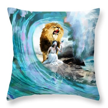 Holy Roar Throw Pillow