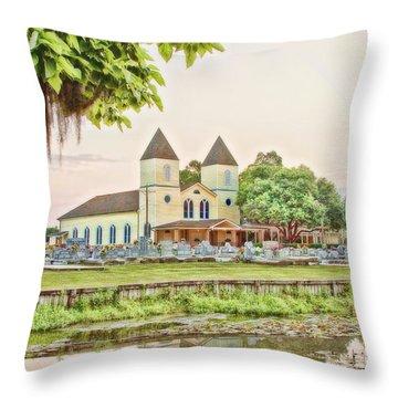 Holy Rosary Church Throw Pillow by Scott Pellegrin