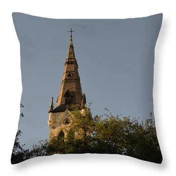 Throw Pillow featuring the photograph Holy Tower   by Shawn Marlow