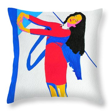 Homage To Carven Throw Pillow