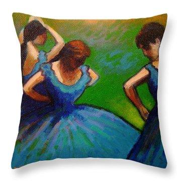 Homage To Degas II Throw Pillow by John  Nolan