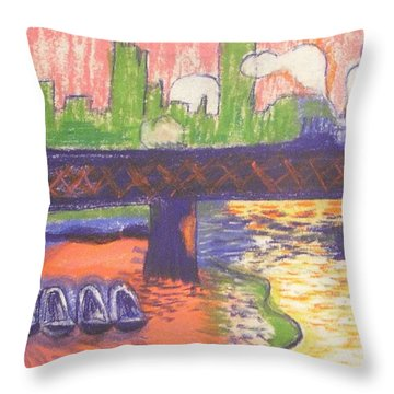 Homage To' Derain' Westminster Bridge 1906 Throw Pillow