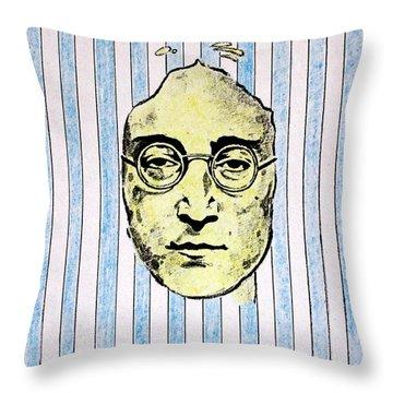 Homage To John Lennon  Throw Pillow by John  Nolan