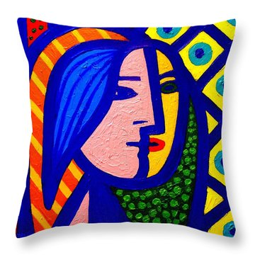 Homage To Pablo Picasso Throw Pillow