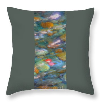 Homage To Van Gogh 1 Throw Pillow by Carol Groenen