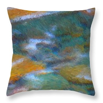 Homage To Van Gogh 2 Throw Pillow by Carol Groenen