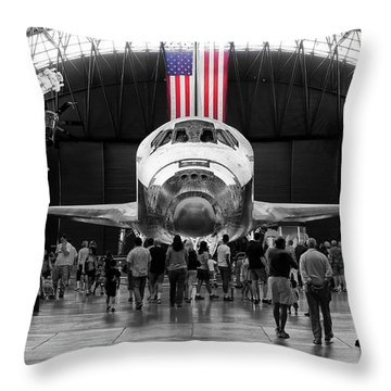 Throw Pillow featuring the photograph Home At Last by Jim Thompson