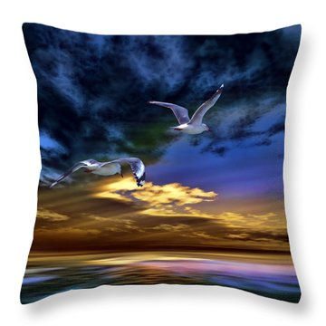 Home Before Nightfall Throw Pillow by Tyler Robbins