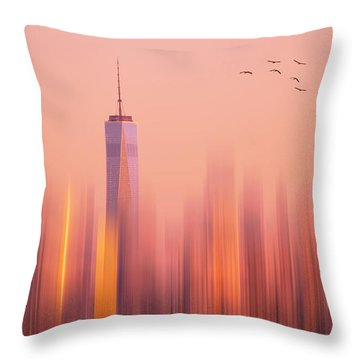 Towards Freedom Throw Pillow by Rima Biswas