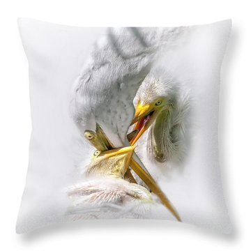 Home Delivery Throw Pillow