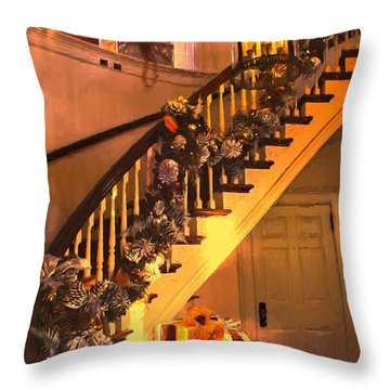 Throw Pillow featuring the photograph Home For Christmas by John Rivera