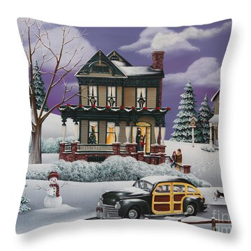 Home For The Holidays 2 Throw Pillow by Catherine Holman