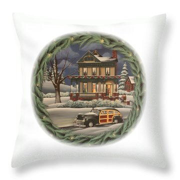Home For The Holidays Throw Pillow by Catherine Holman