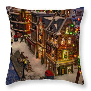 Throw Pillow featuring the photograph Home For The Holidays by GJ Blackman