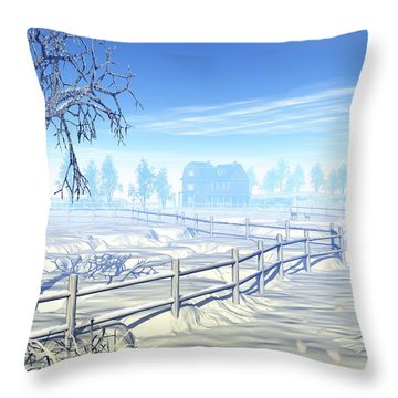 Home For The Holidays Throw Pillow by John Pangia
