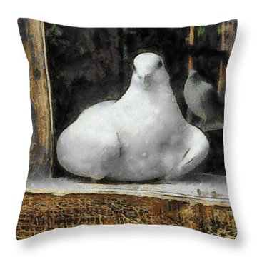 Throw Pillow featuring the painting Home by Georgi Dimitrov