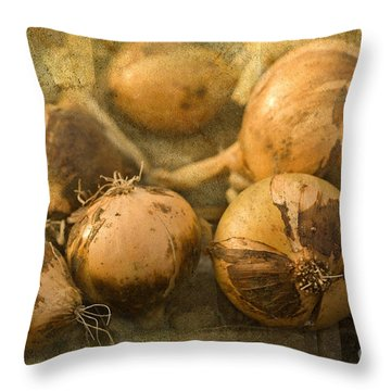 Throw Pillow featuring the photograph Home Grown by Liz  Alderdice