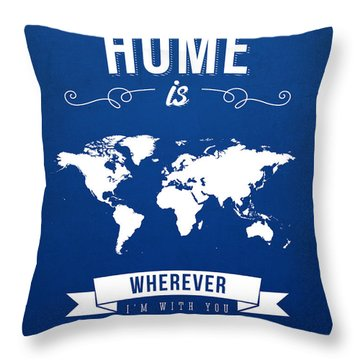 Home - Ice Blue Throw Pillow