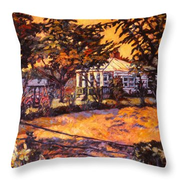 Home In Christiansburg Throw Pillow by Kendall Kessler