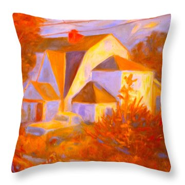 Home In Christiansburg Sketch Throw Pillow by Kendall Kessler