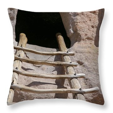 Home In Frijoles Canyon Throw Pillow