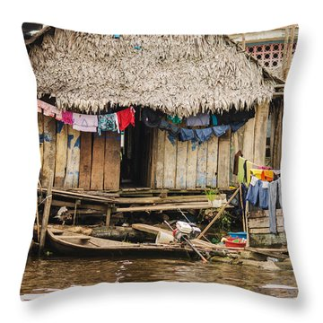 Home In Shanty Town Throw Pillow