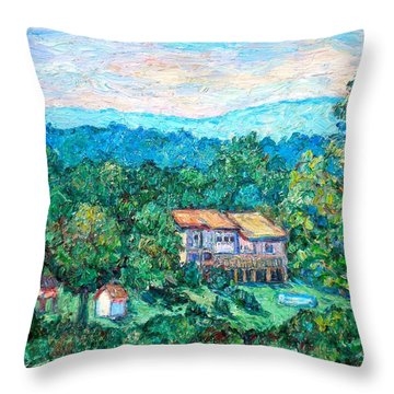 Home In The Hills Throw Pillow by Kendall Kessler