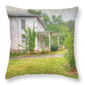 Home Is Where The Heart Is Throw Pillow by Liane Wright