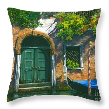 Throw Pillow featuring the painting Home Is Where The Heart Is by Michael Swanson