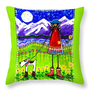 Home Throw Pillow by Jackie Carpenter