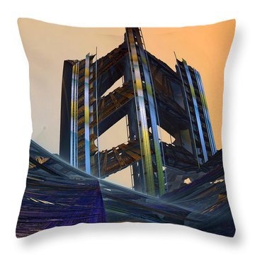 Throw Pillow featuring the digital art Home Of Brave  by Melissa Messick