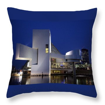 Home Of Rock 'n Roll Throw Pillow