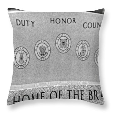 Home Of The Brave Throw Pillow by Heather Allen