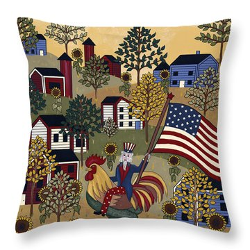 Home Of The Brave Throw Pillow by Medana Gabbard