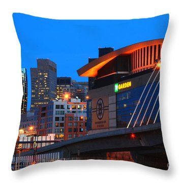 Home Of The Celtics And Bruins Throw Pillow