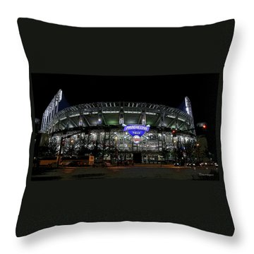 Home Of The Cleveland Indians Throw Pillow