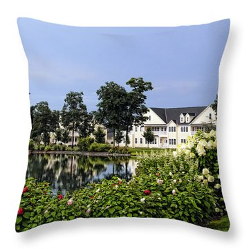 Home On The Golf Course Throw Pillow by Sami Martin