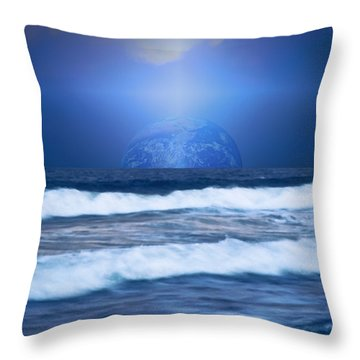 Home On The Horizon Throw Pillow by Kellice Swaggerty