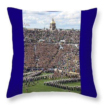 Home Opener 2012 Throw Pillow by Michael Cressy