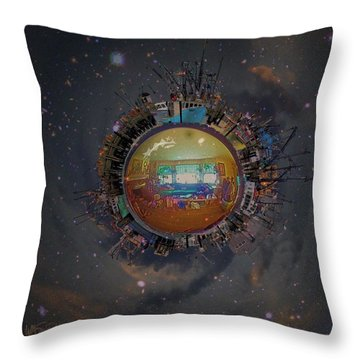 Home Planet Throw Pillow