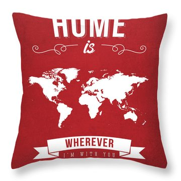 Home - Red Throw Pillow