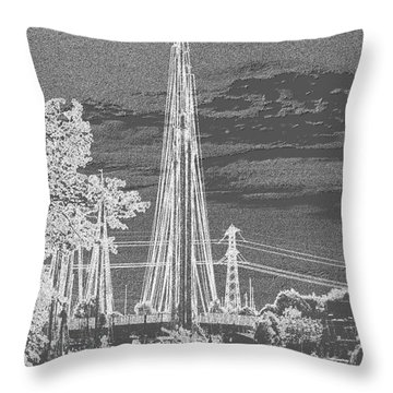 Throw Pillow featuring the photograph Home Sail by Luc Van de Steeg