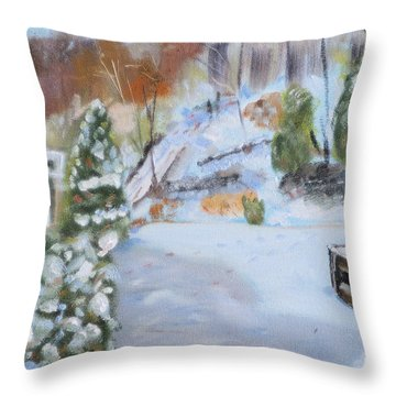 Home Scene South Throw Pillow