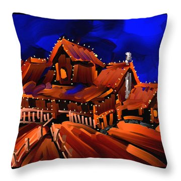 Home Throw Pillow by Steven Lebron Langston
