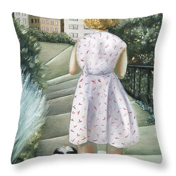 Home Study Throw Pillow by Caroline Jennings